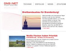 """Website """"DSL für Brandenburg"""""""
