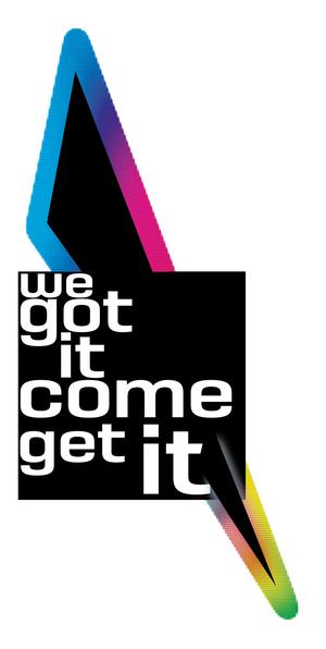 Logo we got it come get it