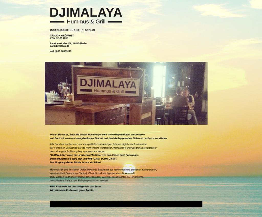Djimalaya- Humus & Grill in Berlin