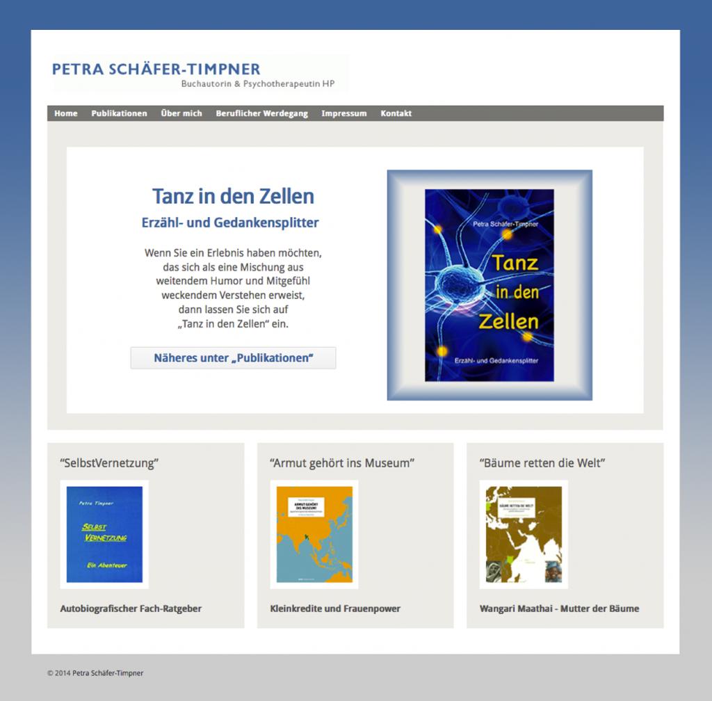 Full Responsive Website für Petra Schäfer-Timpner