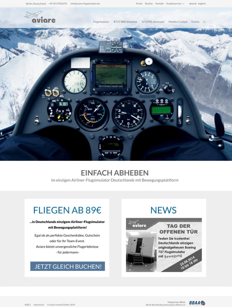 Struktur und Design für Aviare Flugsimulation