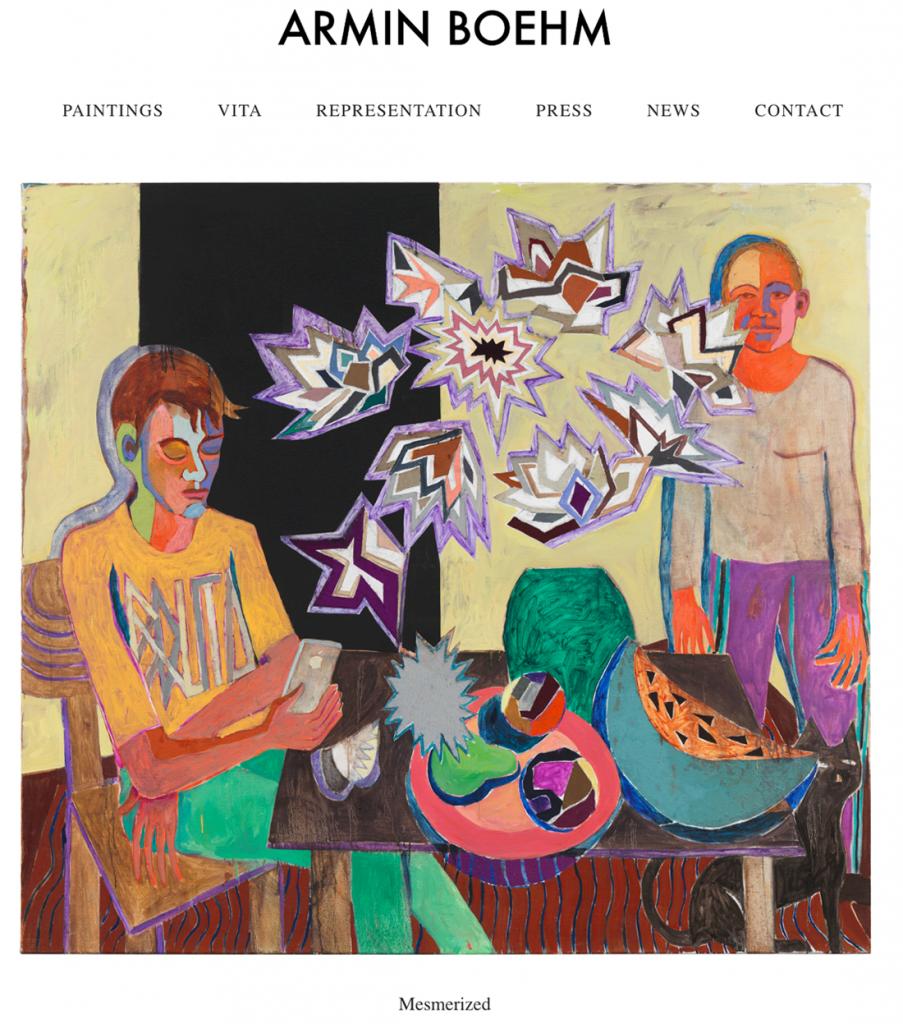 Website für Berliner Künstler Armin Boehm