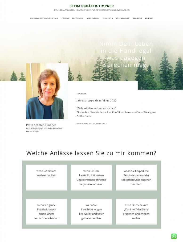 Petra Schäfer-Timpner erfolgreiche Buchautorin, Dipl. Sozialpädagogin und Heilpraktikerin für Psychotherapie